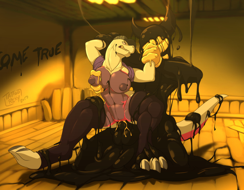 the ink bendy and machine bendy fanart How clumsy you are ueno-san